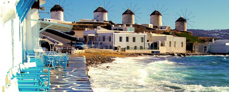 Kıyılar ve Yel Değirmenleri - Mykonos