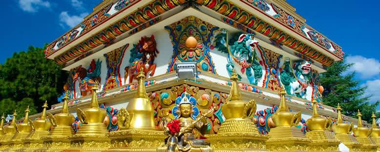 Kopan Manastırı Süslemeleri - Katmandu