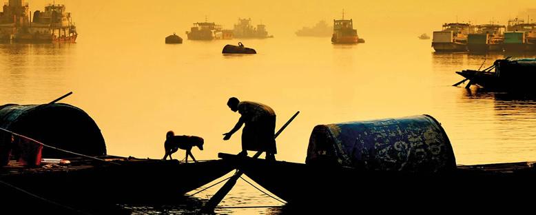 Köpek ve Sahibi - Ganj Nehri
