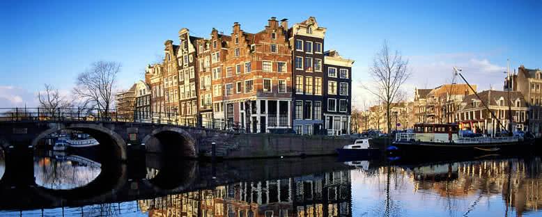 Köprü ve Evler - Amsterdam