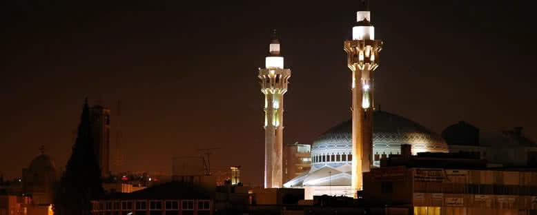 Kral Abdullah Camii Gece Manzarası - Amman