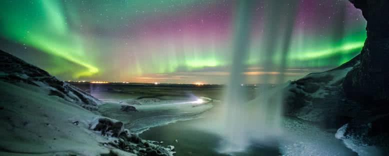 Kuzey Işıkları ve Şelale - Seljalandsfoss