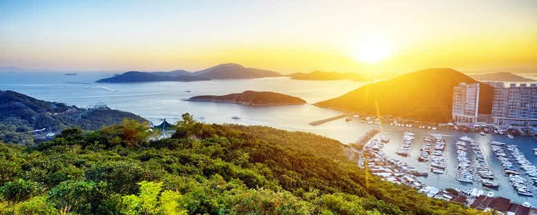 Limanda Gün Batımı - Hong Kong