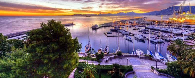 Limanda Gün Doğumu - Palermo