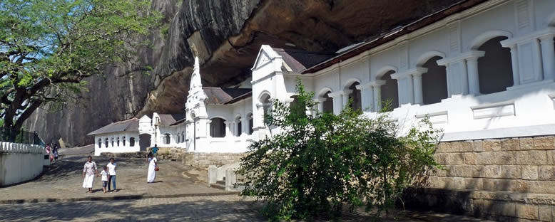 Mağara Tapınakları Girişi - Dambulla