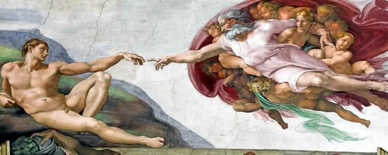 Michelangelo'nun Sistine Şapeli'ndeki Freski - Roma