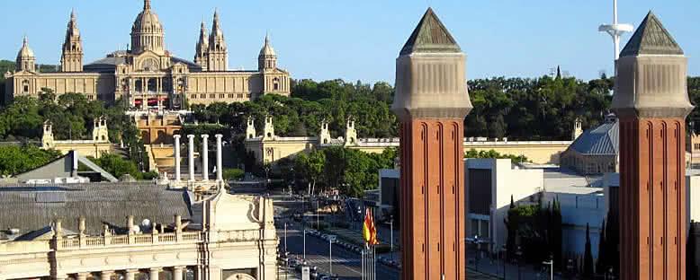 Montjuic ve Palau Nacional - Barcelona