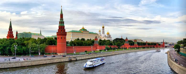 Moskova Nehri ve Şehir Manzarası - Moskova