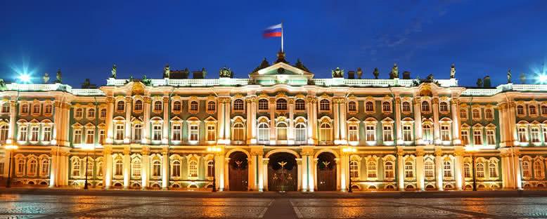 Hermitage Müzesi'nde Gece - St. Petersburg