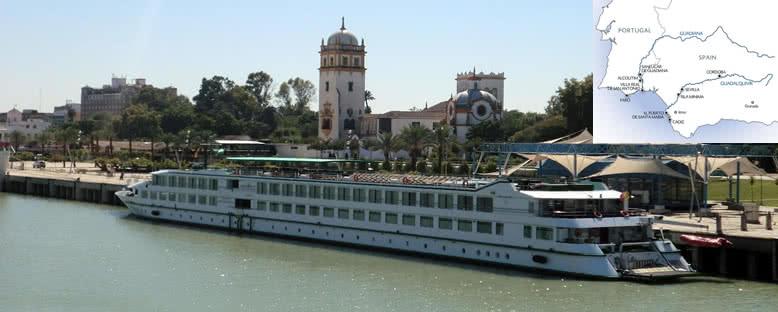MS Belle de Cadix ile Guadalquivir & Guadiana Nehir Turu