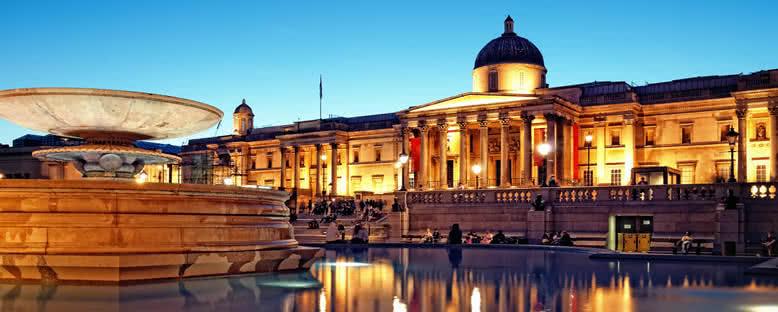 National Gallery Akşam Manzarası - Londra
