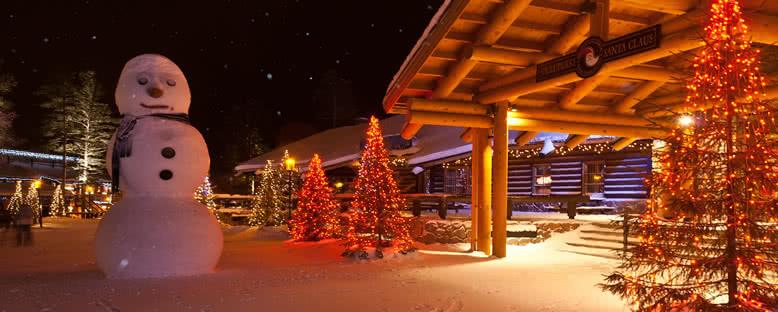 Noel Baba Köyü Işıkları - Rovaniemi