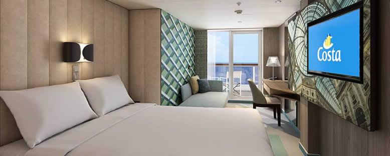 Örnek Balkonlu Kabin - Costa Smeralda