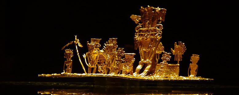 Altın Müzesi'nde Tarihi Parçalar - Bogota