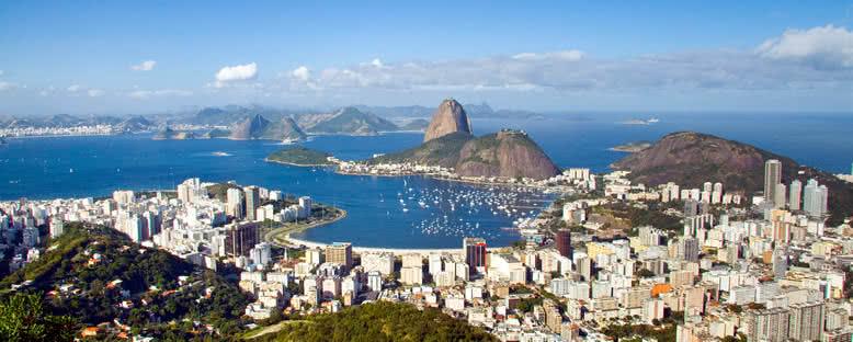 Pão de Açúcar Tepesi'nden Manzara - Rio de Janeiro