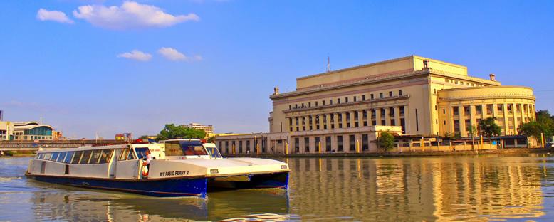 Pasig Nehri ve Merkez Postane - Manila