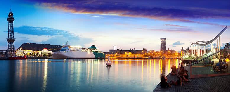 Port Vell'de Gece - Barcelona