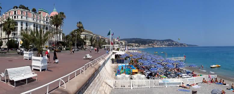 Promenade des Anglais ve Plaj - Nice