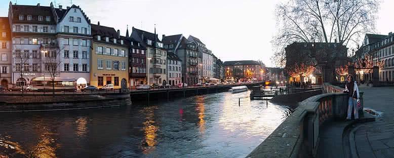 Gün Batımında Ren Nehri - Strasbourg