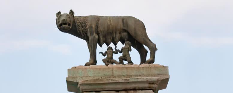 Romulus ve Remus'u Emziren Dişi Kurt - Roma