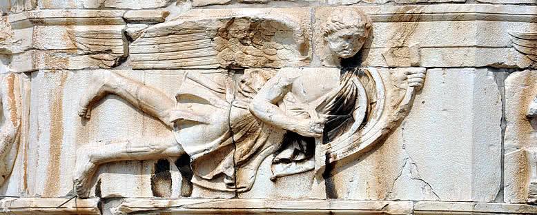 Rüzgar Tanrısı Kabartması - Atina