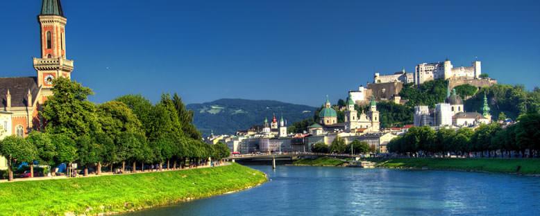 Salzach Nehri Kıyıları - Salzburg