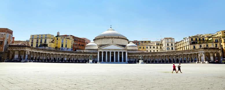 San Francesco di Paola Kilisesi ve Piazza del Plebiscito - Napoli
