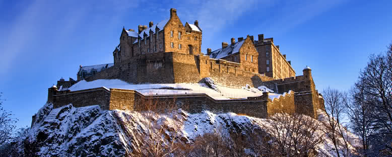 Şatoda Kış Manzarası - Edinburgh