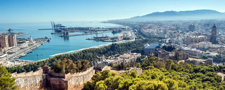 Şehir ve Liman Manzarası - Malaga