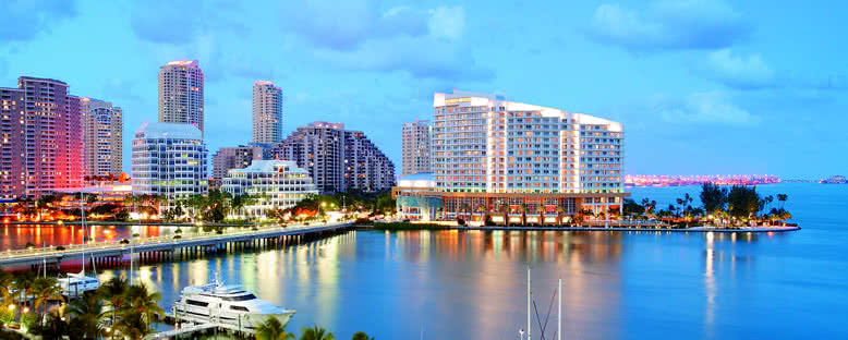 Şehir Merkezinde Akşam - Miami