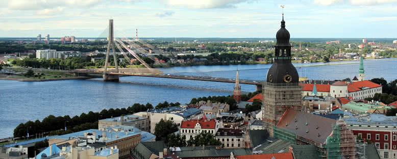 Şehir Panoraması - Riga