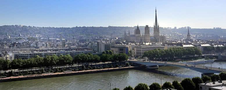 Şehir ve St. Ouen Katedrali - Rouen