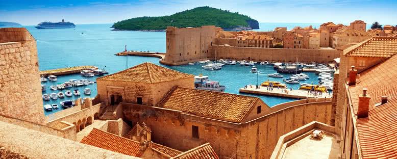 Şehir Surlarından Liman Manzarası - Dubrovnik