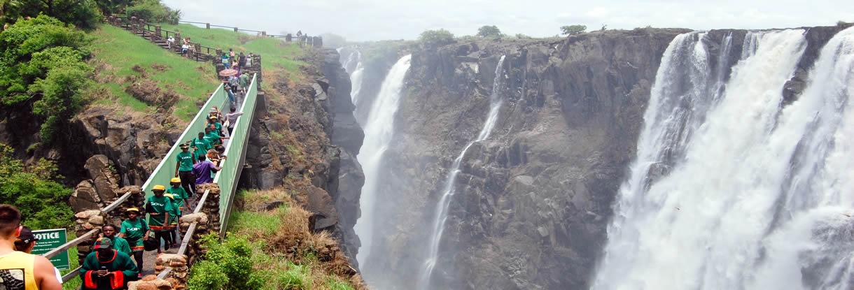 Şelale İzleme Terası - Zambiya