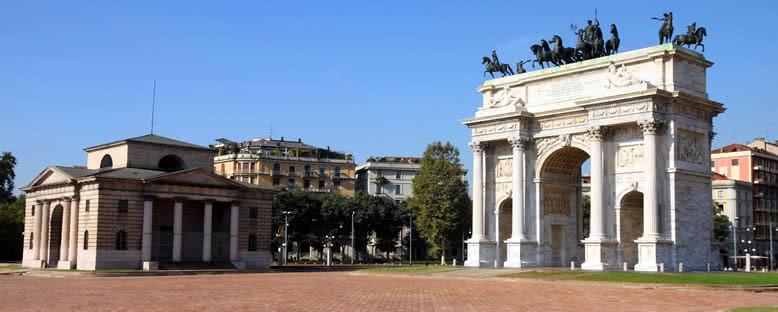 Sempione Parkı ve Arco della Pace - Milano