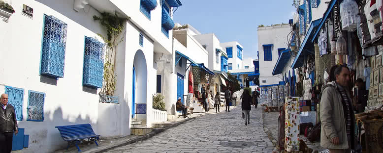 Sidi Bou Said Sokakları - Tunus