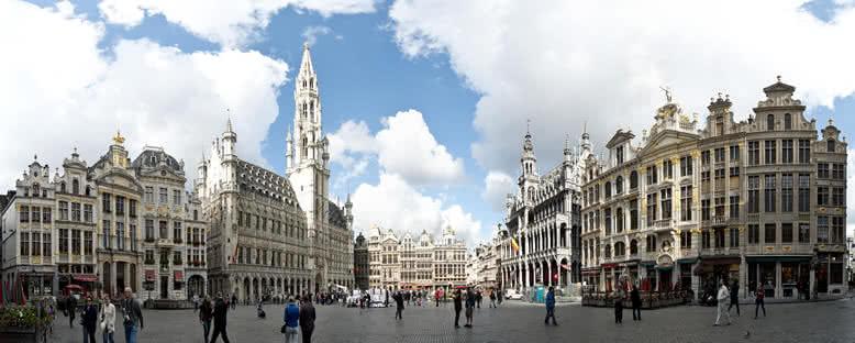 Tarihi Merkez Panoraması - Brüksel