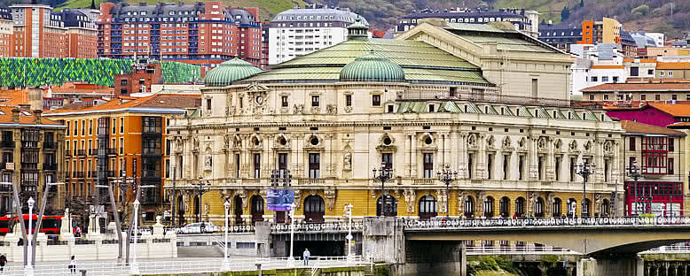 Teatro Arriaga ve Şehir Merkezi - Bilbao
