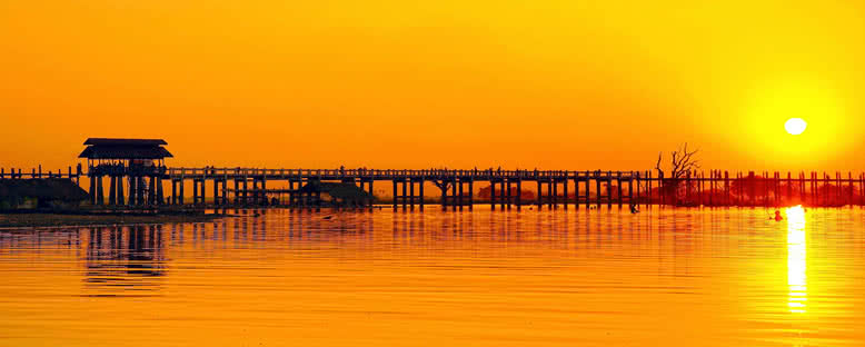 U Bein Köprüsü - Mandalay