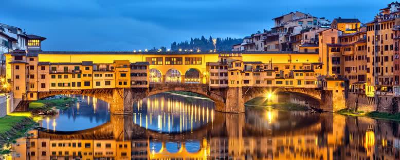 Ponte Vecchio Gece Manzarası - Floransa