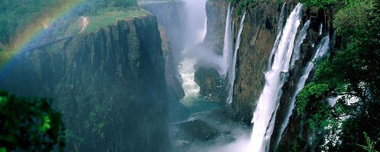 Victoria Şelaleleri Manzarası - Zimbabwe